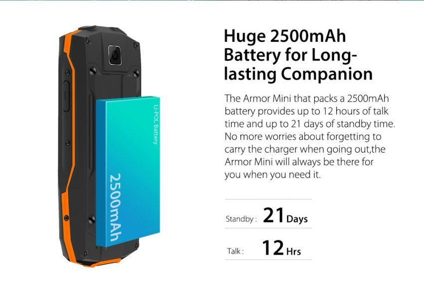 Ulefone Armor Mini batteria1