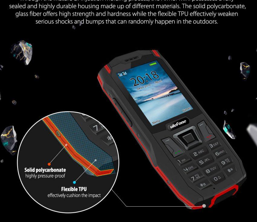 Ulefone Armor Mini phone scocca1