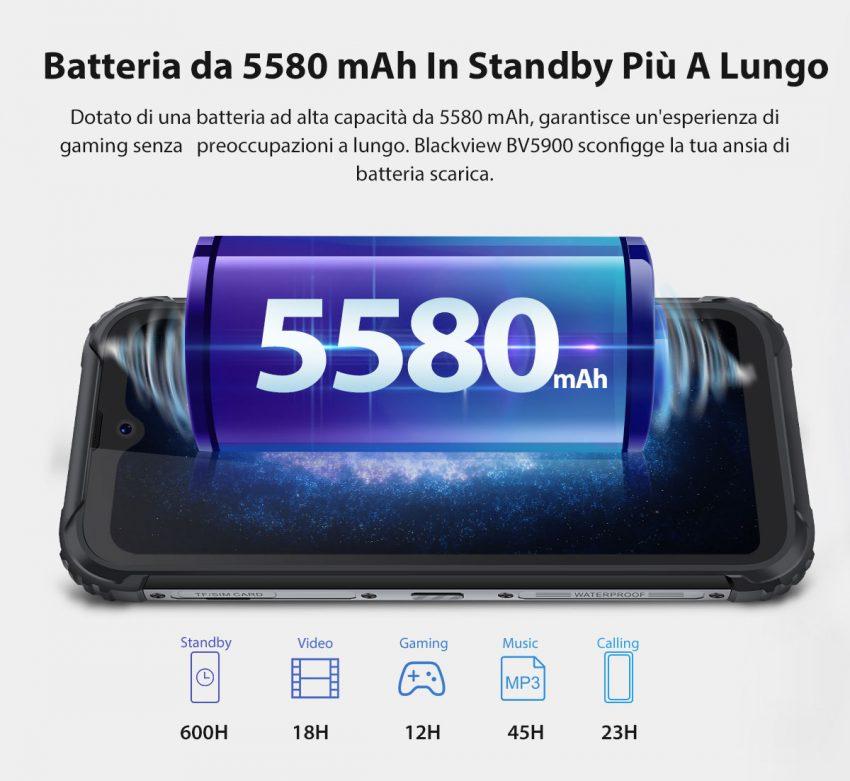 blackview bv5900 batteria autonomia