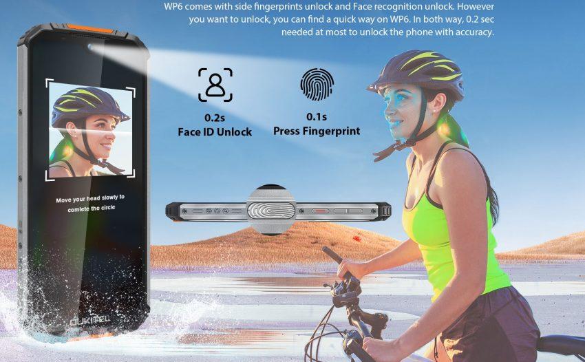 sblocco facciale sensore impronte oukitel wp6 1